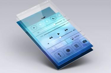 Minimalist app mockup