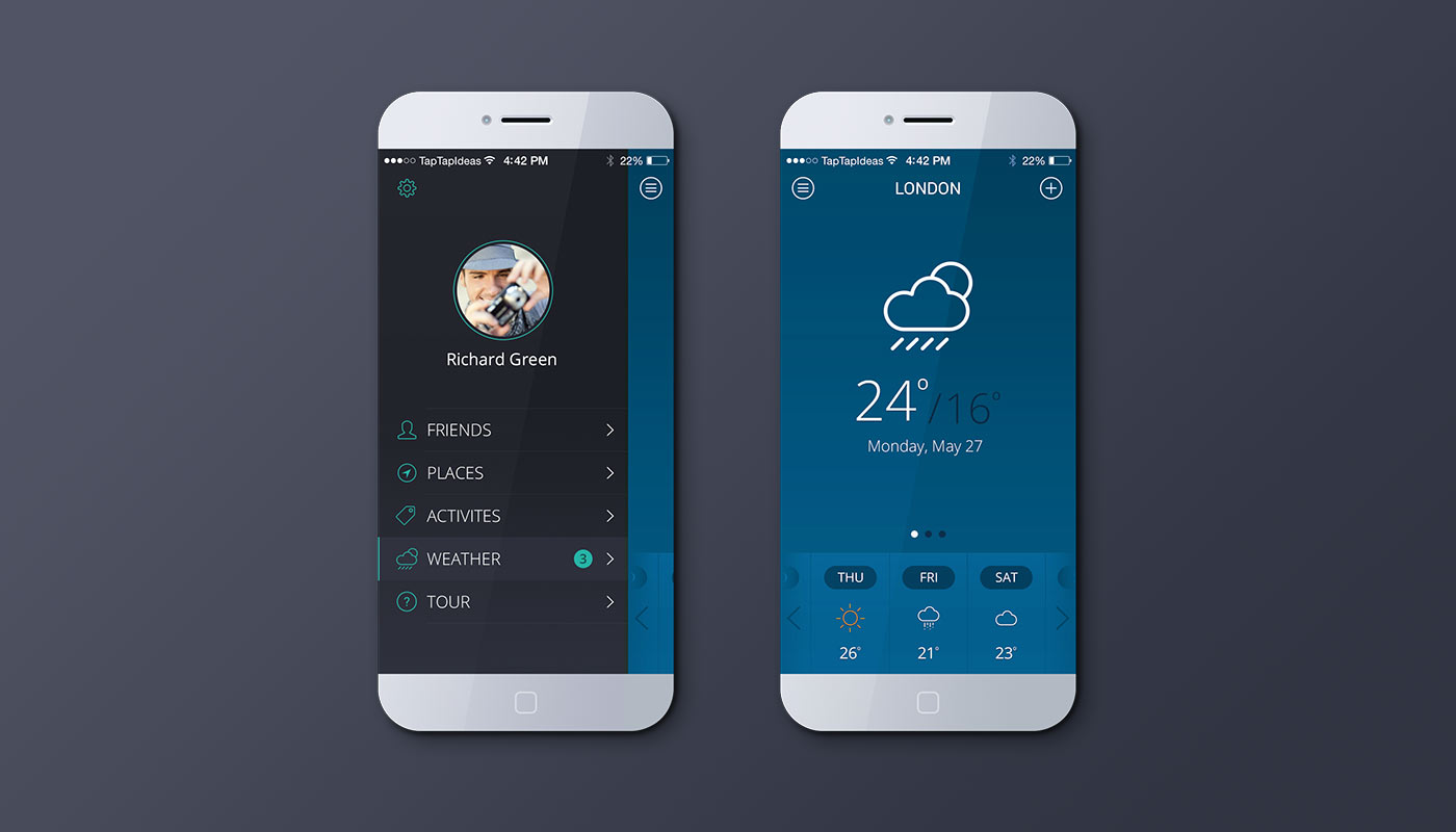 Mobile app – blue version